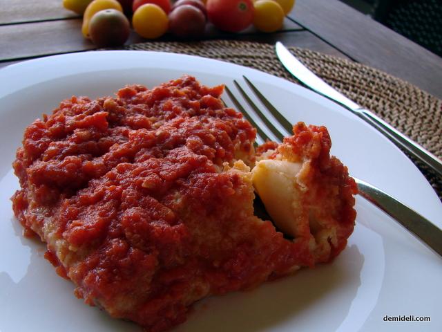 Παστός μπακαλιάρος με φρέσκια ντομάτα
