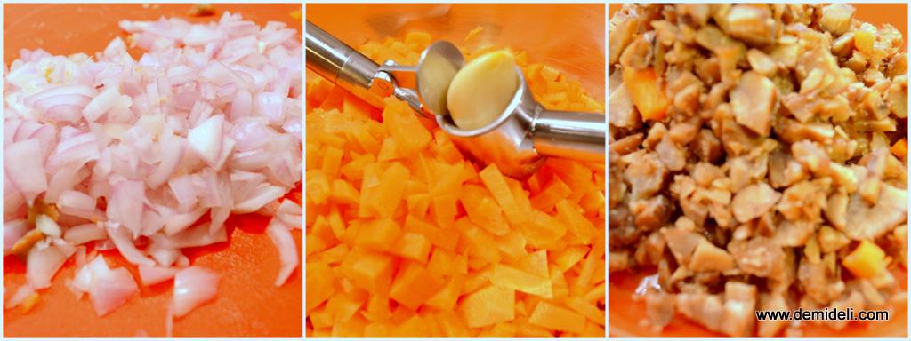 Σούπα με κάστανα, μπέικον και καρότα
